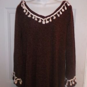 Sweaters - Burgundy Red Tunic Sweater Fits XL